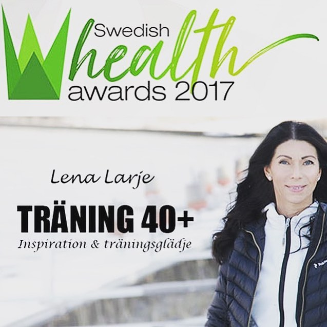 Jag är nominerad. Rösta på träning 40+ KLICKA HÄR!