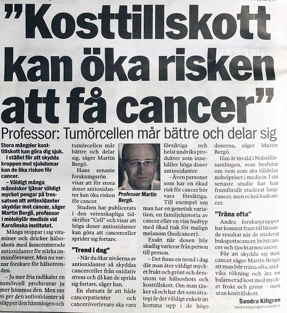 antioxidanter ger cancer