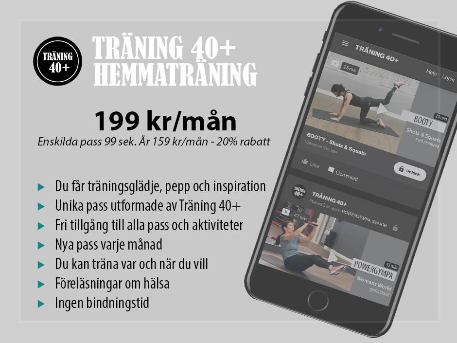Träning 40+ online hemmaträning