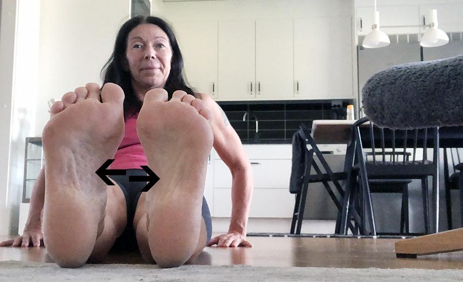 ont under fötterna